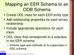 mapping an eer schema to an odb schema