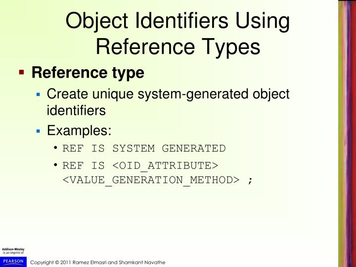 Object Identifiers Using Reference Types