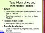 type hierarchies and inheritance cont d1