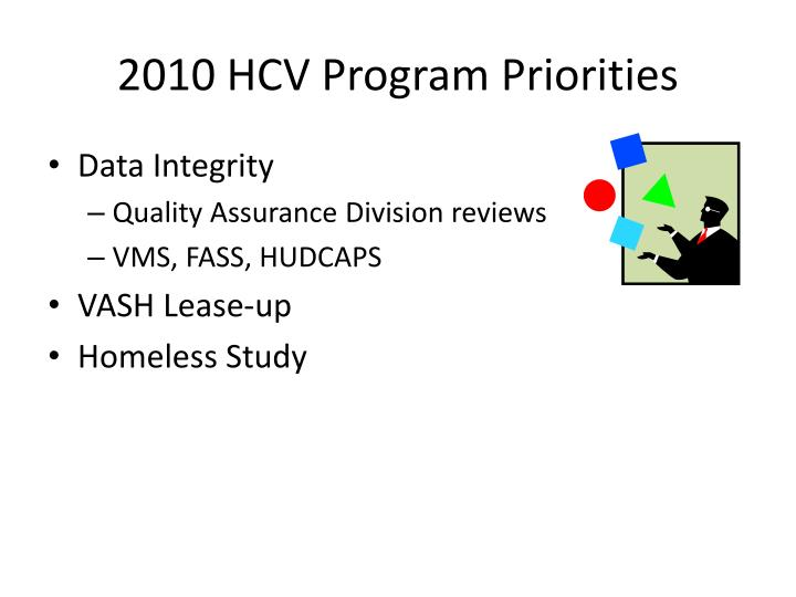2010 HCV Program Priorities
