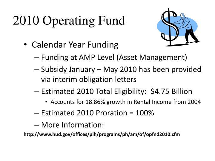 2010 Operating Fund
