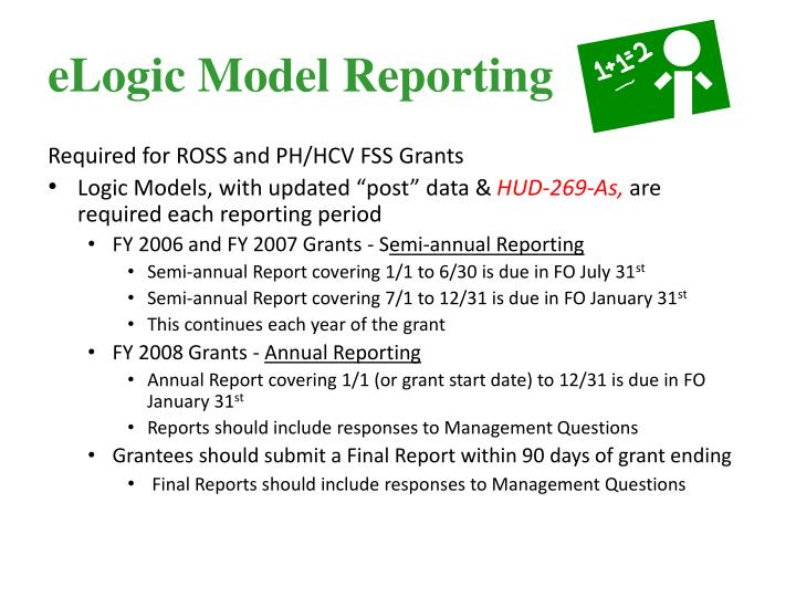 eLogic Model Reporting