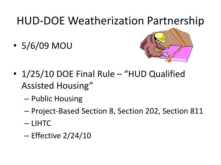 HUD-DOE Weatherization Partnership