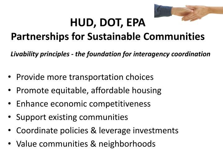 HUD, DOT, EPA