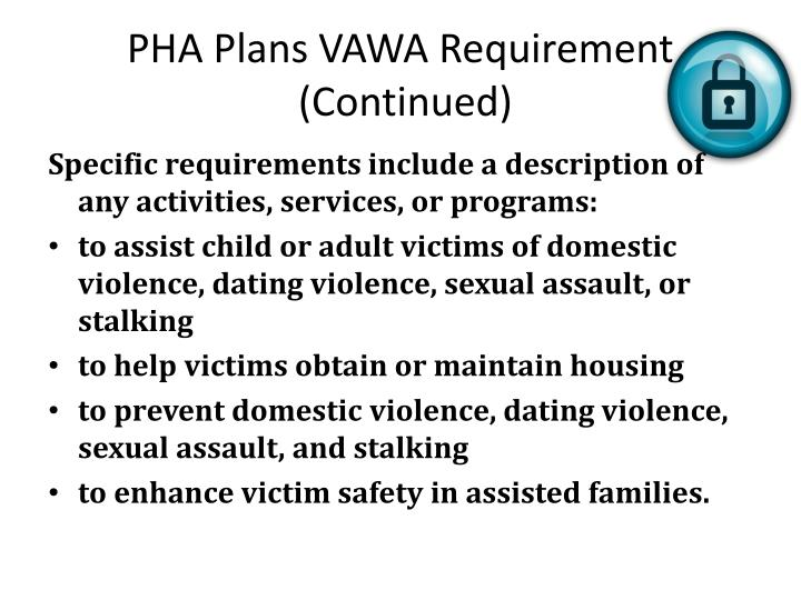 PHA Plans VAWA Requirement