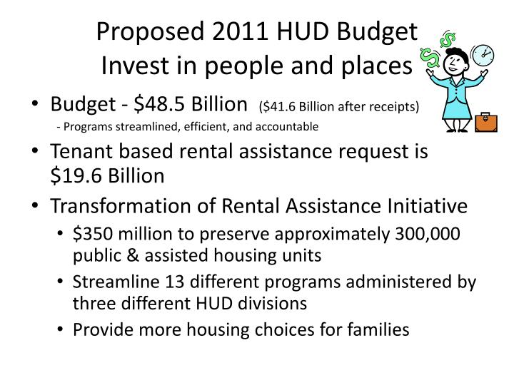 Proposed 2011 HUD Budget