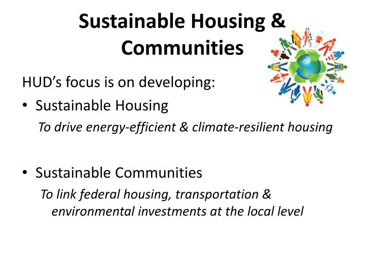 Sustainable Housing & Communities