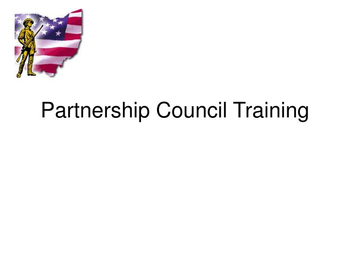 Partnership council training