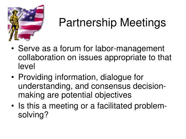 Partnership Meetings