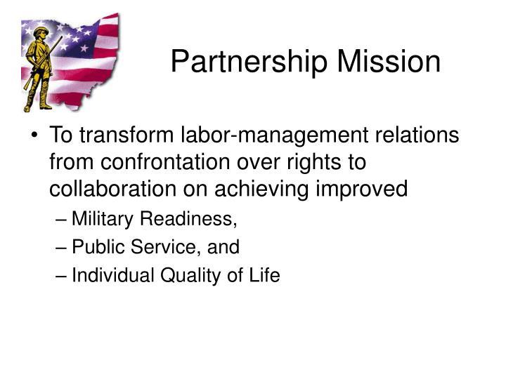 Partnership Mission