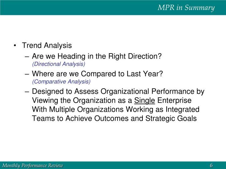 MPR in Summary