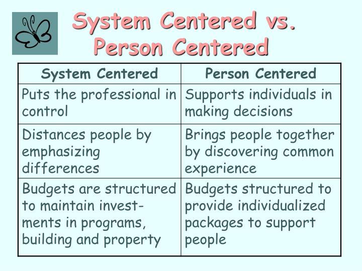 System Centered vs.