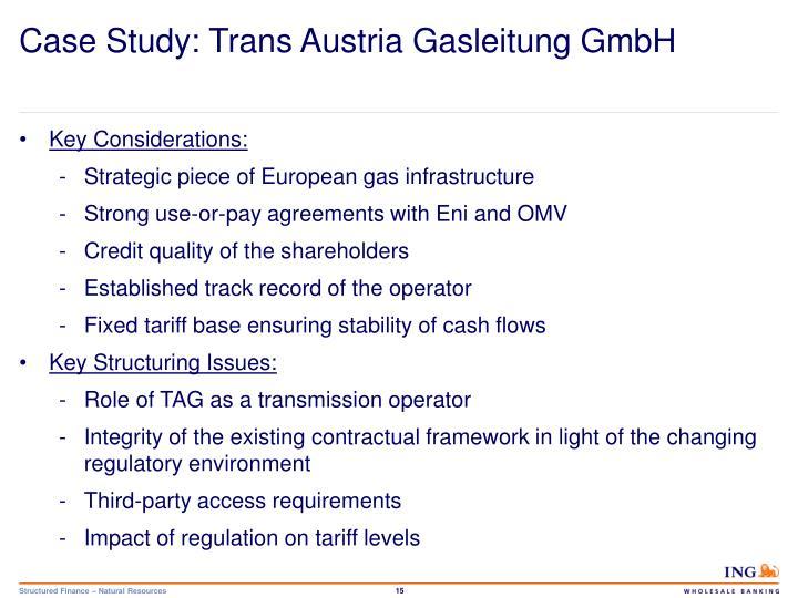 Case Study: Trans Austria Gasleitung GmbH