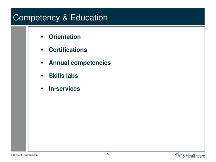 Competency & Education