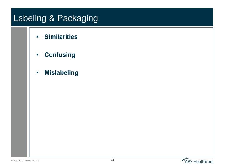 Labeling & Packaging