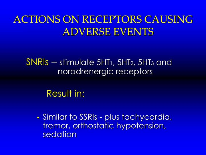 ACTIONS ON RECEPTORS CAUSING