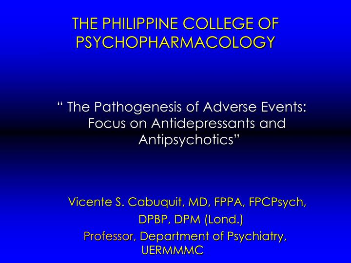 the philippine college of psychopharmacology