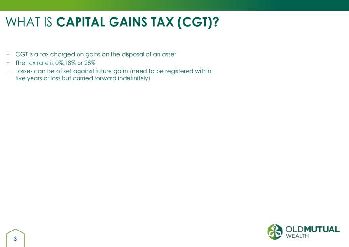 What is capital gains tax cgt