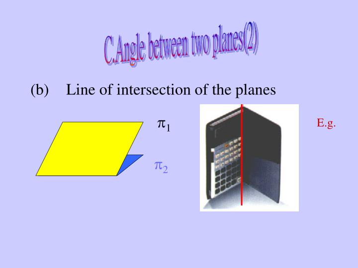 C.Angle between two planes(2)