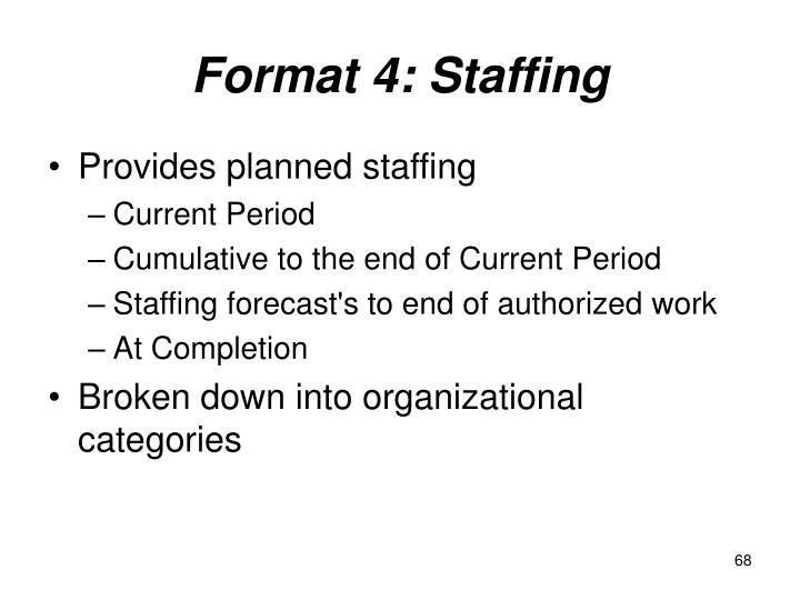 Format 4: Staffing