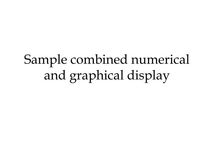 Sample combined numerical and graphical display