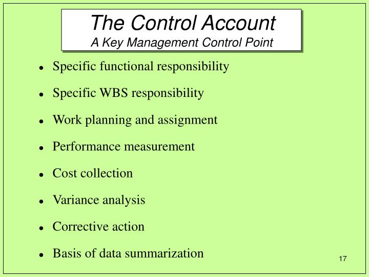The Control Account