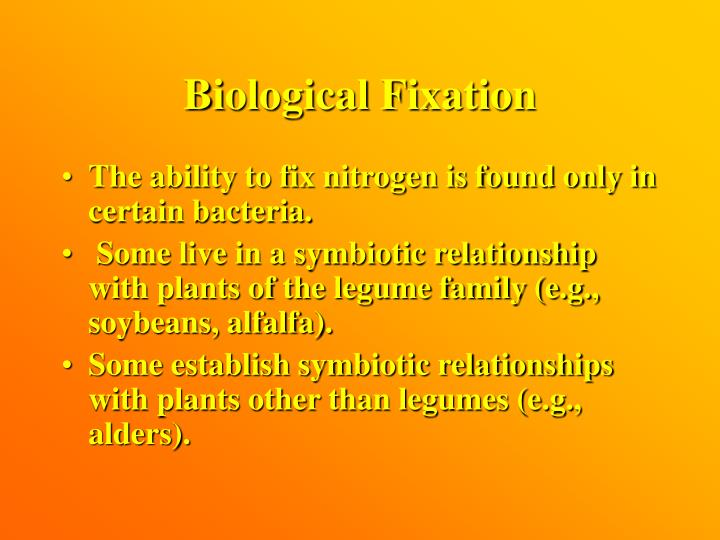 Biological Fixation