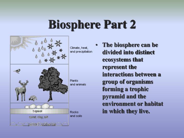 Biosphere Part 2