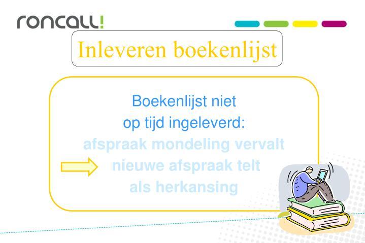 Boekenlijst niet
