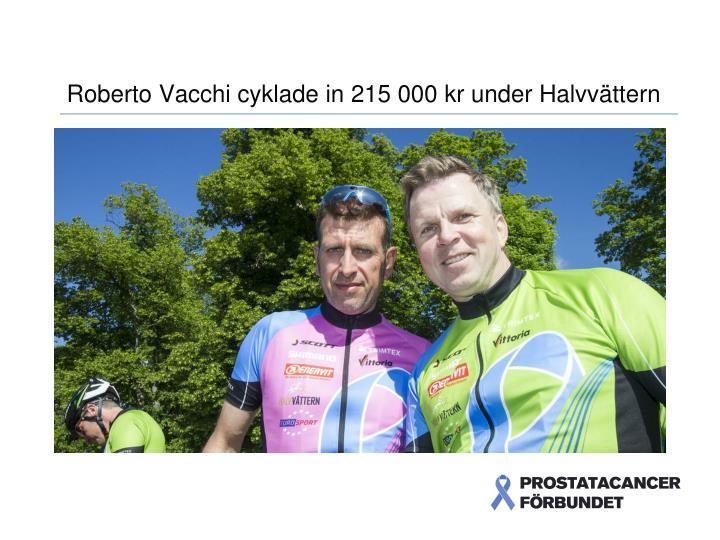 Roberto Vacchi cyklade in 215 000 kr under Halvvättern