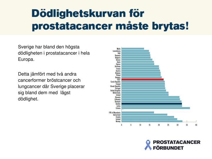 Sverige har bland den högsta dödligheten