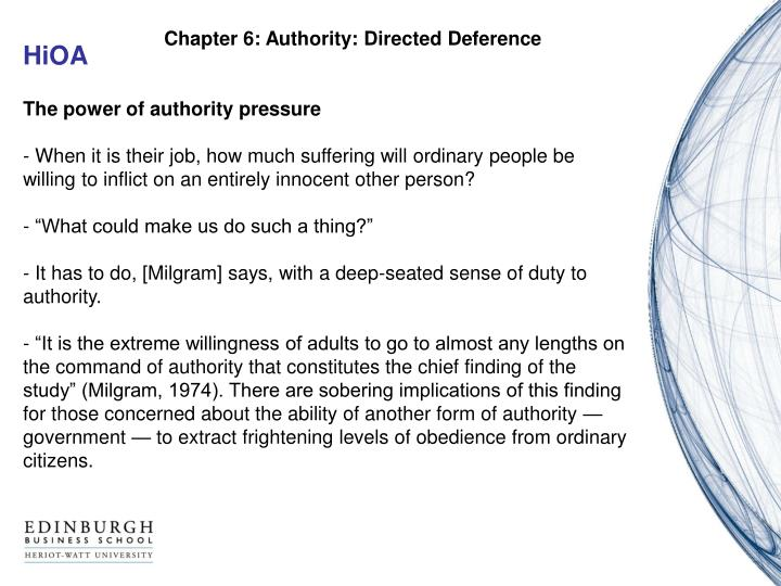Chapter 6: Authority: Directed Deference