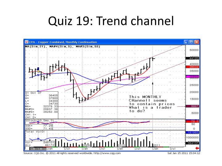 Quiz 19: Trend channel