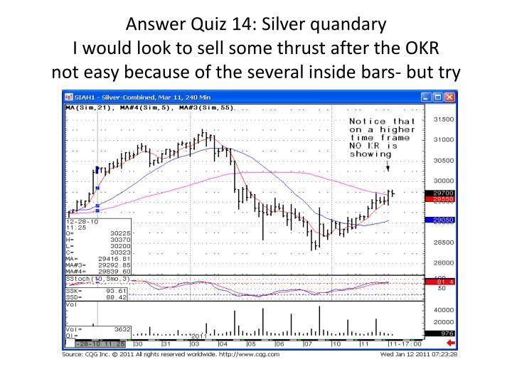 Answer Quiz 14: Silver quandary