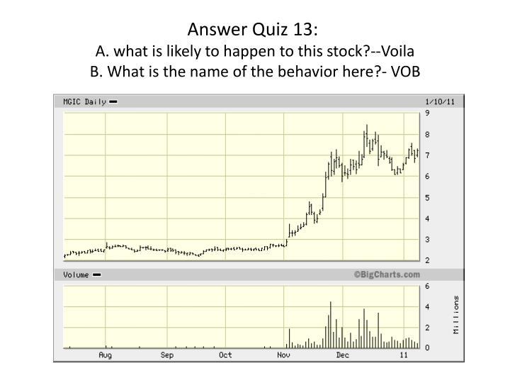 Answer Quiz 13: