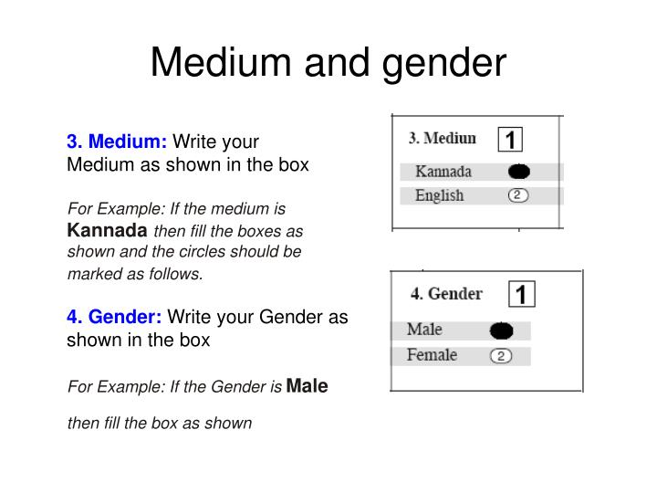 Medium and gender