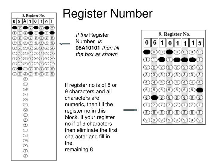 Register Number