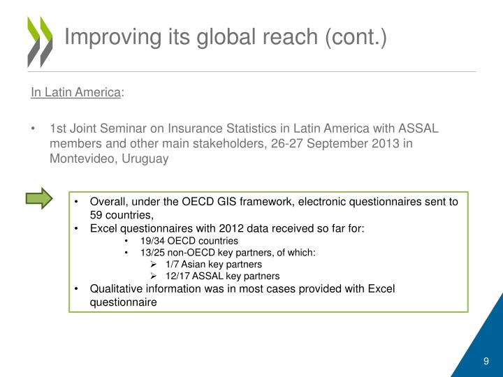 Improving its global reach (cont.)