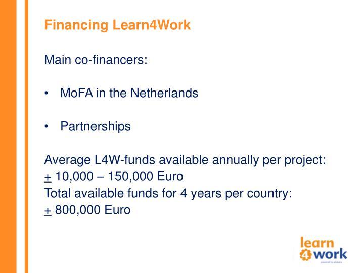 Financing Learn4Work