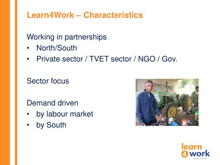 Learn4Work – Characteristics