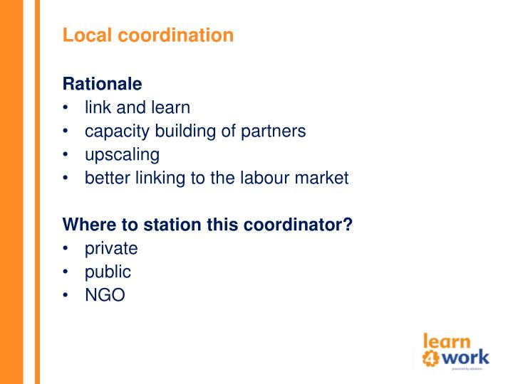 Local coordination