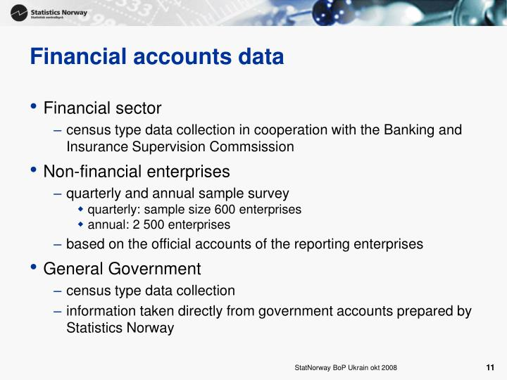 Financial accounts data