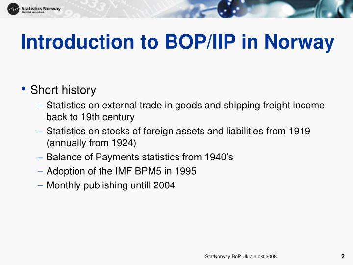 Introduction to BOP/IIP in Norway