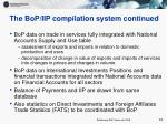 the bop iip compilation system continued