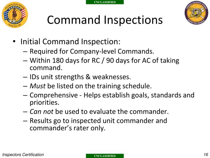 Command Inspections