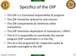 specifics of the oip1