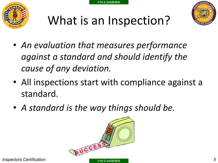 What is an Inspection?