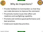 why do inspections