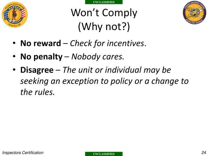 Won't Comply