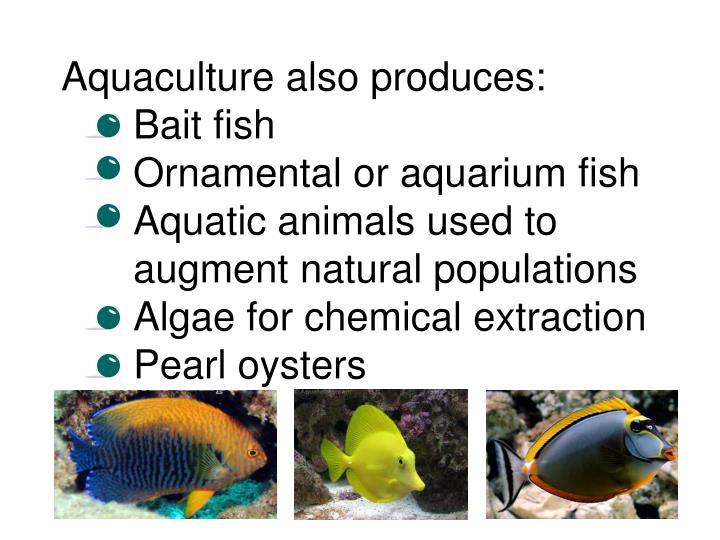 Aquaculture also produces: